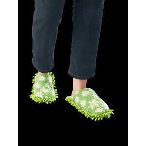 """Magnet 3Pagen Upratovacie papuče """"Kvety"""" zelená"""