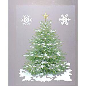 """Magnet 3Pagen Obraz na okno """"Svetielkujúci vianočný stromček"""""""