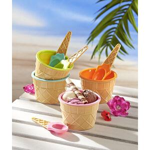Magnet 3Pagen 4 zmrzlinové poháre + lyžičky