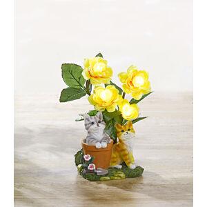 """Magnet 3Pagen Solárne svetlo """"Mačky a kvety"""""""