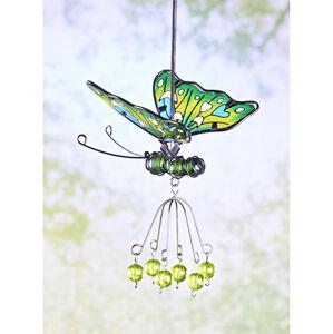 """Magnet 3Pagen Dekorácia """"Motýľ"""" zelená/žltá"""