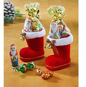 Magnet 3Pagen 2 topánky Santa Clausa plnené cukrovinkami