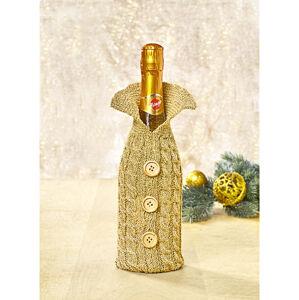 Magnet 3Pagen Kabátik na fľašu zlatistá