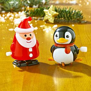 """Magnet 3Pagen Naťahovacia figúrka """"Santa"""" tučňiak"""
