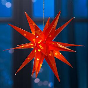 Magnet 3Pagen LED hviezda červená