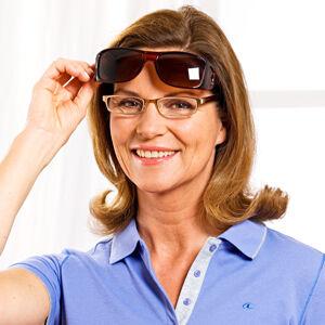 Magnet 3Pagen Slnečné okuliare do auta, hnedá