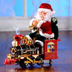 "Magnet 3Pagen Dekorácia ""Santa Claus na lokomotíve"""