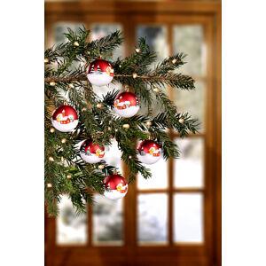 """Magnet 3Pagen 6 vianočných gúľ """"Dedinka"""""""