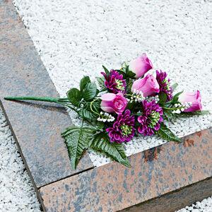 """Magnet 3Pagen Kytica na hrob """"Ruže a gerbery"""""""