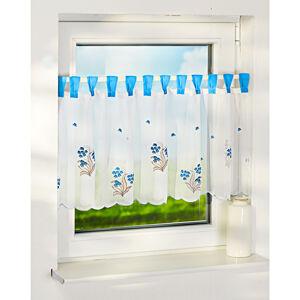 """Magnet 3Pagen Krátka záclona """"Kvety"""", modrá"""