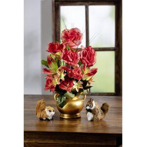 Magnet 3Pagen Kvetinový aranžmán v zlatistej nádobe