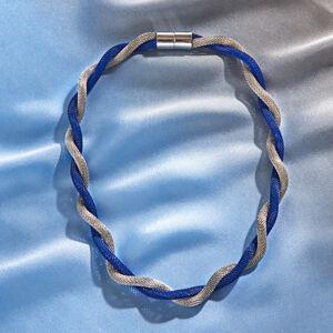 Magnet 3Pagen Náhrdelník modrá/striebristá