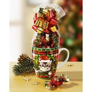 """Magnet 3Pagen 1 hrnček na kávu """"Vianočné mačiatko"""""""