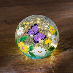 """Magnet 3Pagen LED sklenená guľa """"Motýľ"""""""