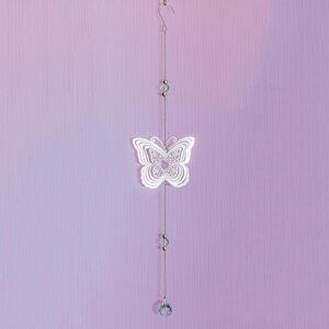 """Magnet 3Pagen Závesná dekorácia """"Motýľ"""" striebristá"""